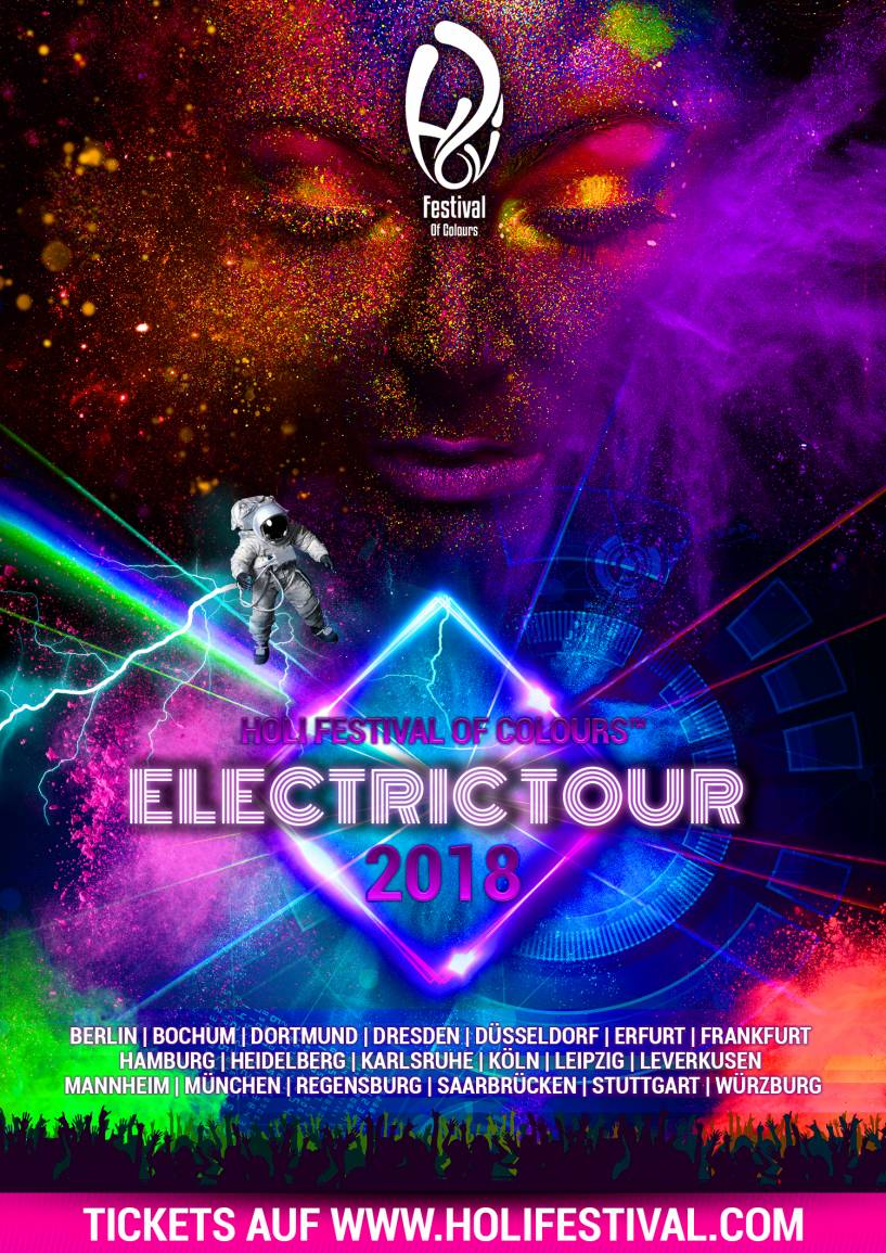Holi Festival of Colours - Electric Tour 2018